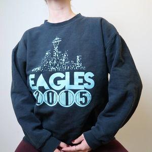 Eagles band black crewneck sweatshirt